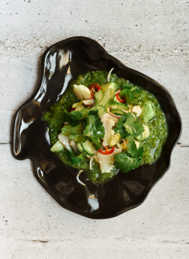 Ceviche With Kiwi And Green Almonds